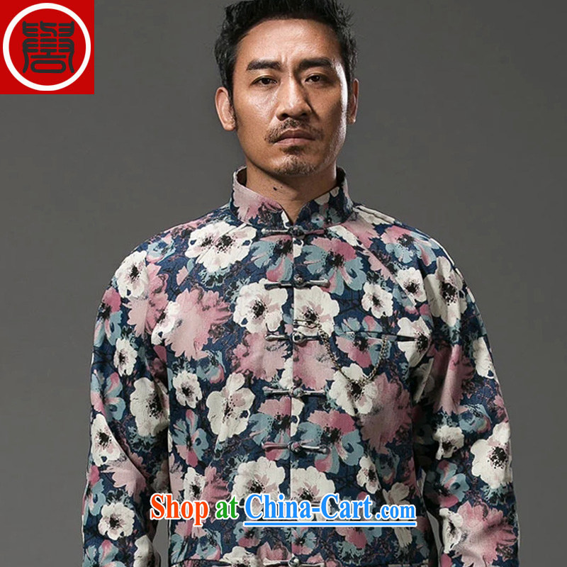 Internationally renowned Chinese style suit of stamp duty and stylish decorated in short, Long-Sleeve is detained Chinese improved spring jacket suit (XL)