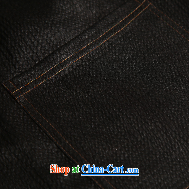 Internationally renowned sauna silk Ethnic Wind Chinese middle-aged and older men with silk incense cloud yarn T-shirt short-sleeved silk Tang black 185, internationally renowned (CHIYU), shopping on the Internet