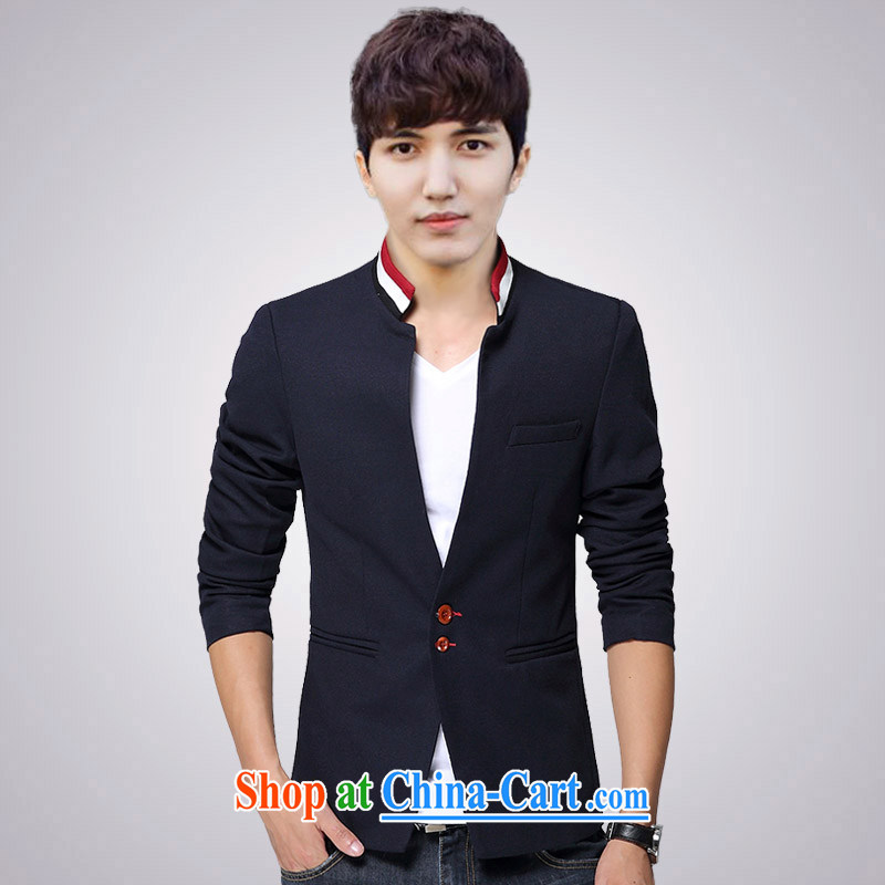 Waxberry 2015 British men and smock Korean beauty, youth, who suits students leisure jacket Tang suit with Tibetan cyan XXXL 155 recommendations in jack