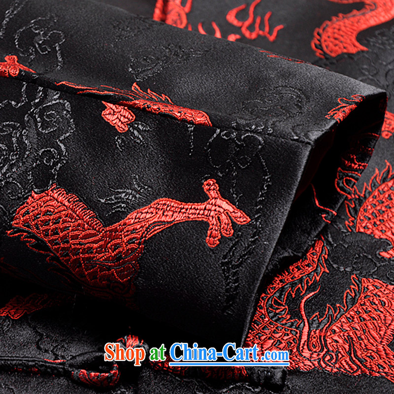 Nam Chung in Nsongnian male Chinese T-shirt jacket fall and winter Chinese T-shirt, old fashion ethnic replace 6031 Large Dragon Tang Black - Spring and Autumn and the number is the recommended maximum number of the year (Nansongnian), and, shopping on th