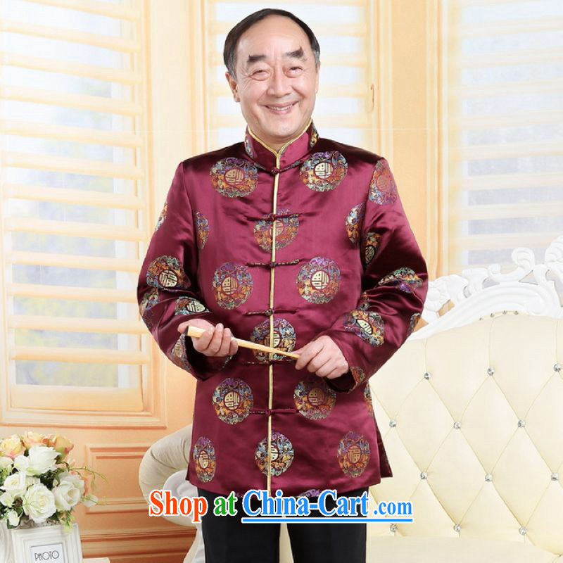 He Jing Ge older Chinese couples with the leading Chinese wind dress the Life wedding service performance service red men XXXL