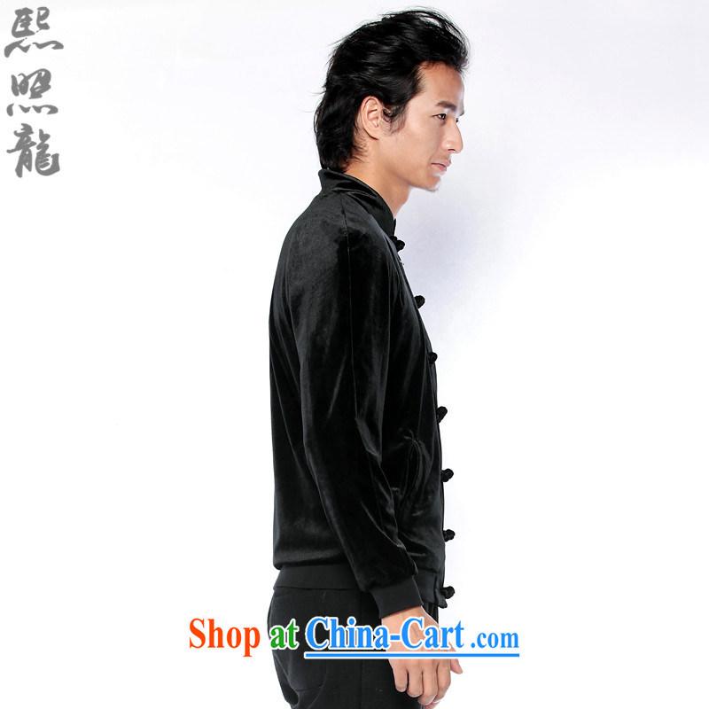 Mr Chau Tak-hay, snapshot original men's 2014 new Chinese and China, jacket for men's wool jacket China wind jacket black XL, Hee-snapshot lung (XZAOLONG), online shopping
