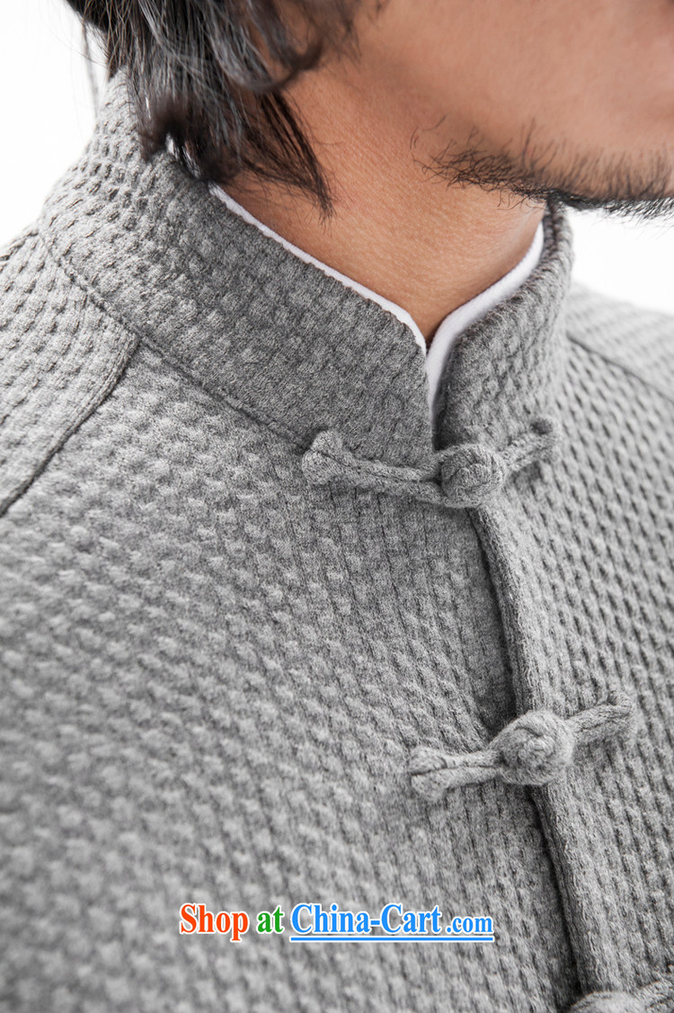 Fujing Qipai Tang China wind original woolen knitted jacket stylish and Sau San Tong jackets Chinese improved plug-ins pull sleeveless ethnic-tie retro high-end men's dark gray L pictures, price, brand platters! Elections are good character, the national distribution, so why buy now enjoy more preferential! Health