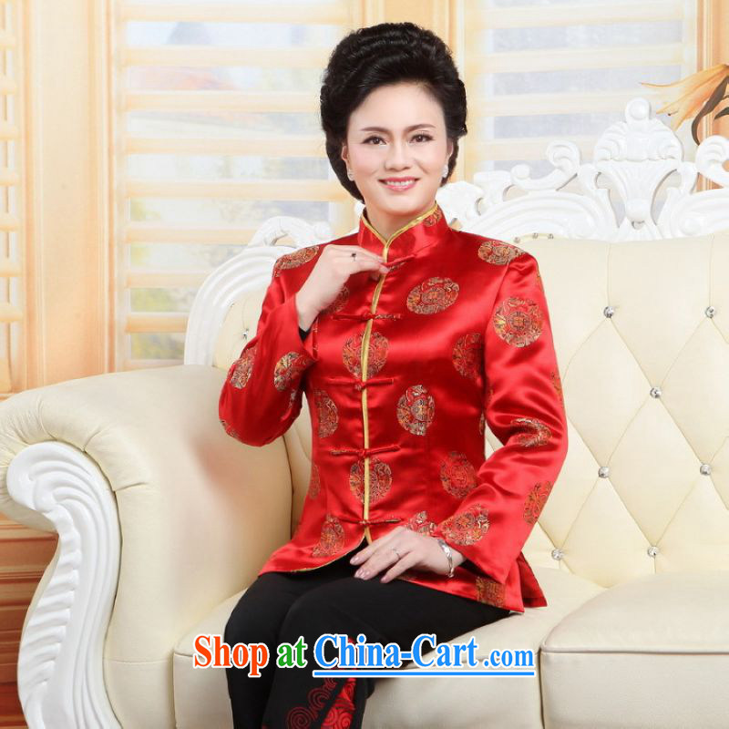 Shanghai, optimizing Pre-IPO Share Option Scheme, elderly Chinese couples with the leading Chinese wind dress the life wedding service performance service red women XXL