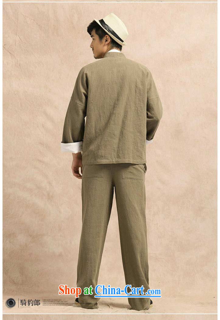 China wind Tang with long-sleeved linen shirt jacket men's leisure Chinese Han-yau Ma tei cotton hand-painted T-shirt smock light card its XXXL pictures, price, brand platters! Elections are good character, the national distribution, so why buy now enjoy more preferential! Health