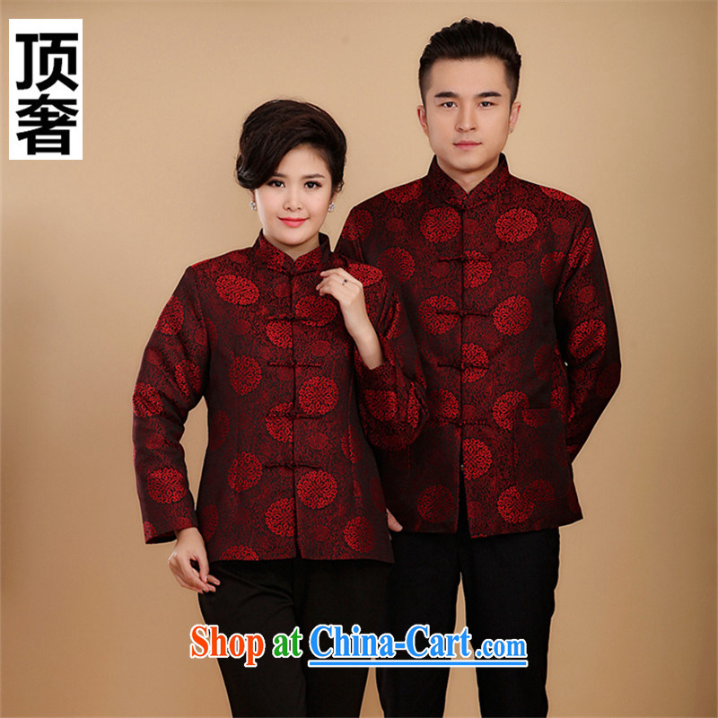 Top luxury Chinese men's jackets and cotton waffle business and leisure China wind-tie red, for T-shirt lovers with Chinese cotton clothing, macrame cotton suit Chinese men, women, 2 XL