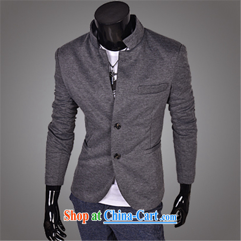 The more quality clothing business and leisure beauty men, for justices smock 100 ground solid color jacket G 00-X 14 dark gray XXL