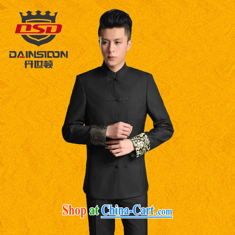 Dan's (DAINSIDON) Chinese male, for package leisure cultivating Chinese male students with chinese new partners who wedding dress Kit black XXXL