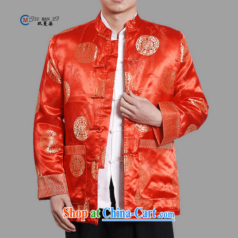Ko Yo Mephidross Colorful spring 2015 new middle-aged father Tang with stylish retro, for silk-tie casual stylish quilted coat the code 0042 M M XXXL 0042