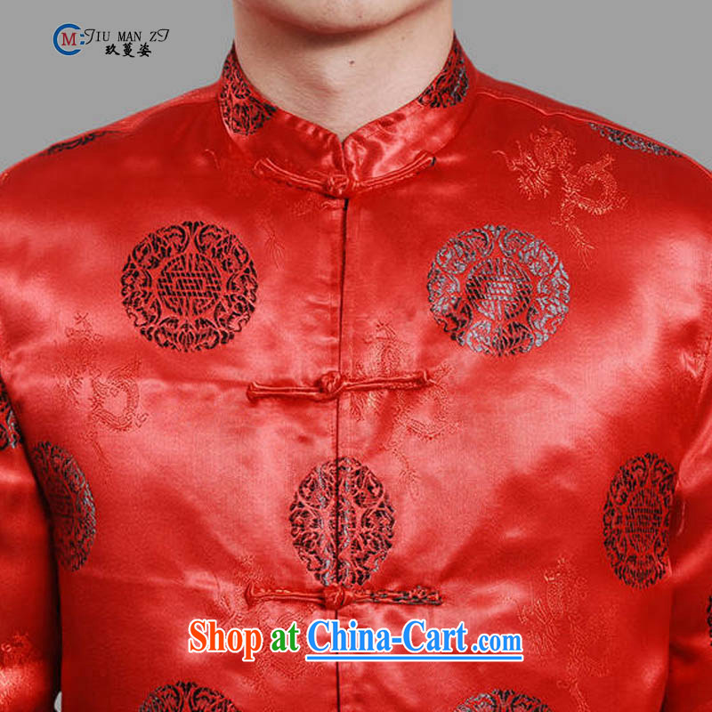 Ko Yo vines into colorful spring and autumn 2015 new, middle-aged father Tang with stylish retro, for silk-tie casual stylish quilted coat the code 0042 M M XXXL 0042, capital city sprawl, shopping on the Internet