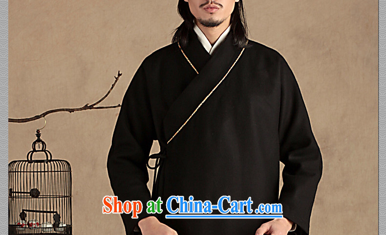 Only 3 Chinese wind-han, Jacob wool jacket that Chinese men's ethnic Chinese Han-coat leisure thick winter small gray (S) pictures, price, brand platters! Elections are good character, the national distribution, so why buy now enjoy more preferential! Health