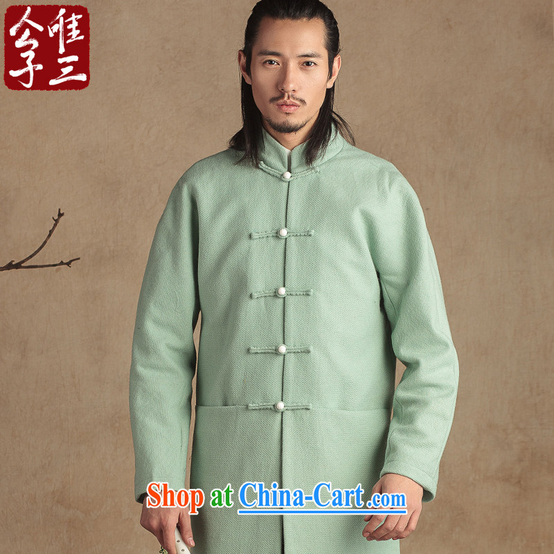 Only 3 Chinese wind is wool so the Chinese coat men and Chinese national costumes and stylish casual jacket winter the green movement (XXL)
