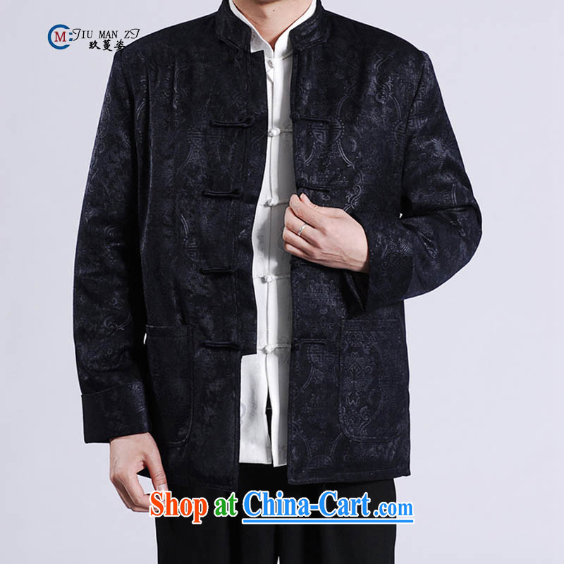 Ko Yo vines into colorful spring and autumn 2015 new middle-aged father Tang with stylish retro, for wool-clip relaxed and modern Chinese countrysides the code 004 M M 0046 - A XXXL