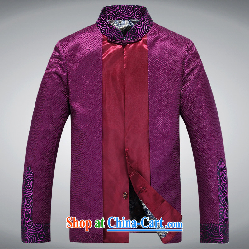sureyou men's national costume emulation, shawl Chinese China wind men leisure Chinese Dress APEC conference service 88,023 purple 1 190