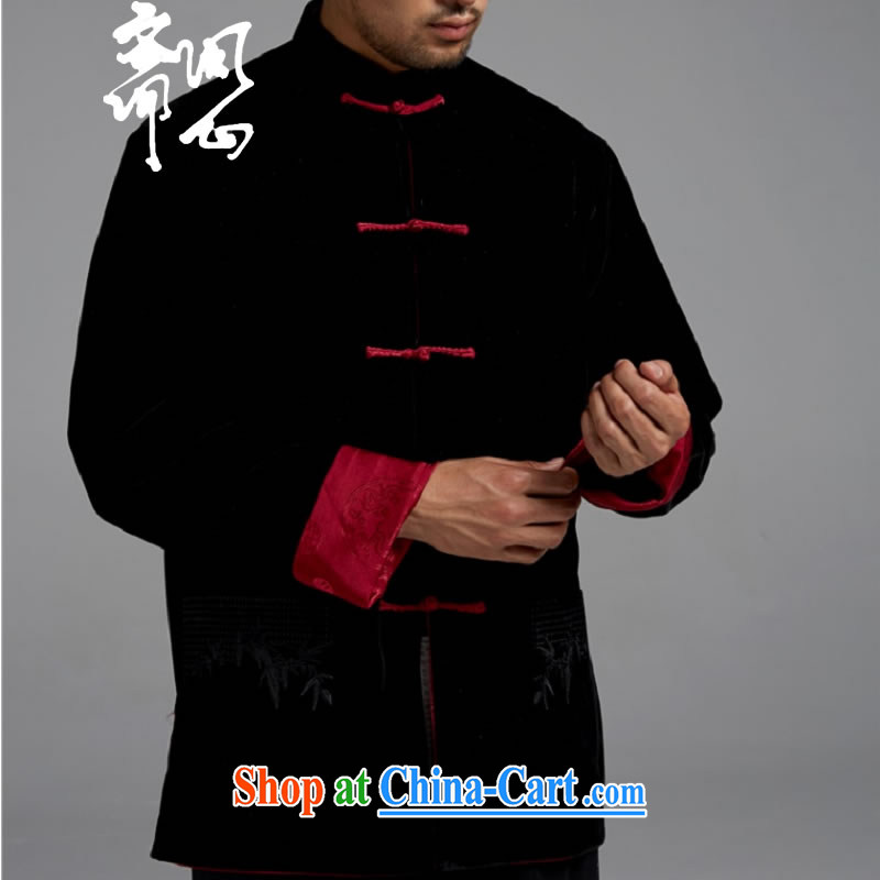q heart Id al-Fitr (the autumn as soon as possible new men wearing two Tang jackets men's T-shirt WXZ 1502 Black + red XXL asked heart Id al-Fitr, shopping on the Internet