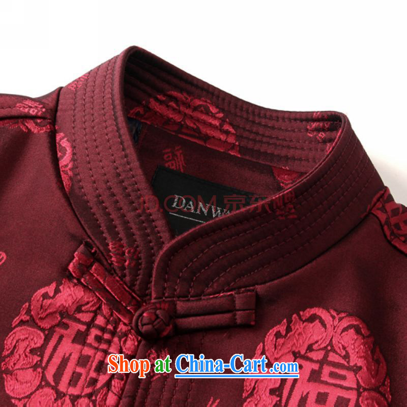 Nigeria, the 2015 spring New Men's father is Chinese, and in the older Tang jackets wine red 185, Nigeria, and shopping on the Internet