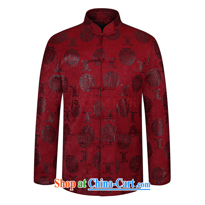 Nigeria, the 2015 spring loaded Tang jackets men's father is Chinese style Chinese, in older Chinese red wine 190