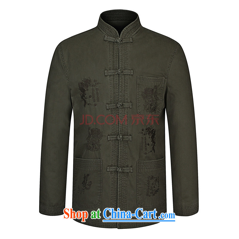 For Pont Sond� Diane 2015 spring new, older men's father installed China wind up for men Tang jackets khaki 190