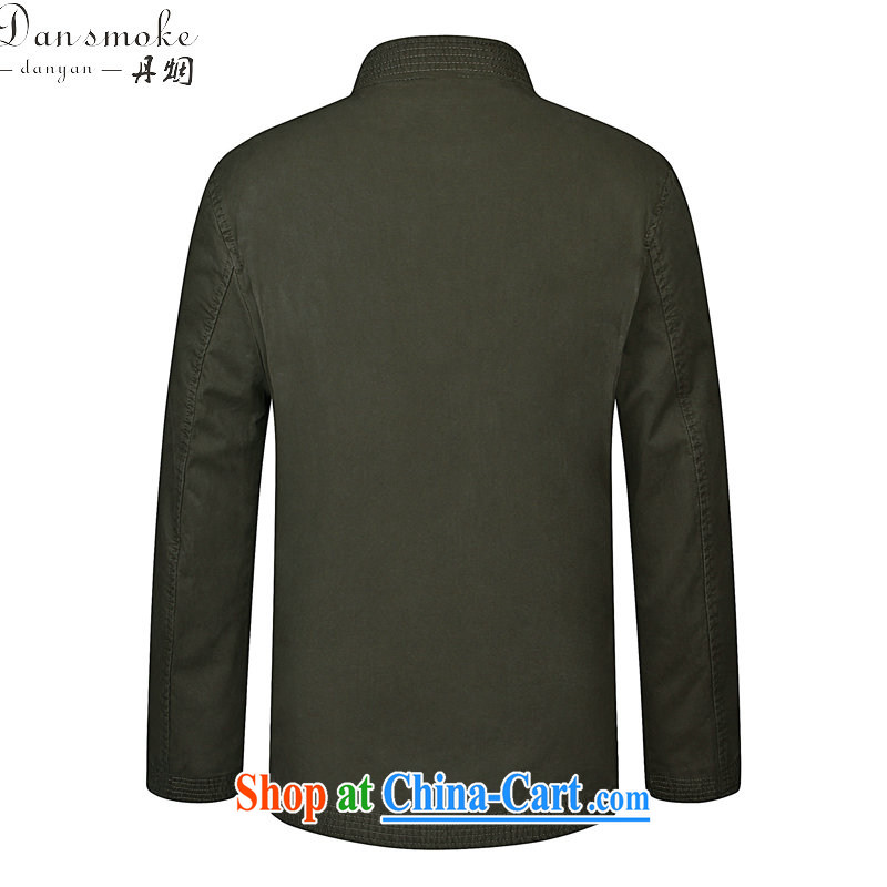 Dan smoke spring new, older men modern Chinese, for pure cotton China wind embroidery father replace Tang jackets pickles color 190, Bin Laden smoke, shopping on the Internet