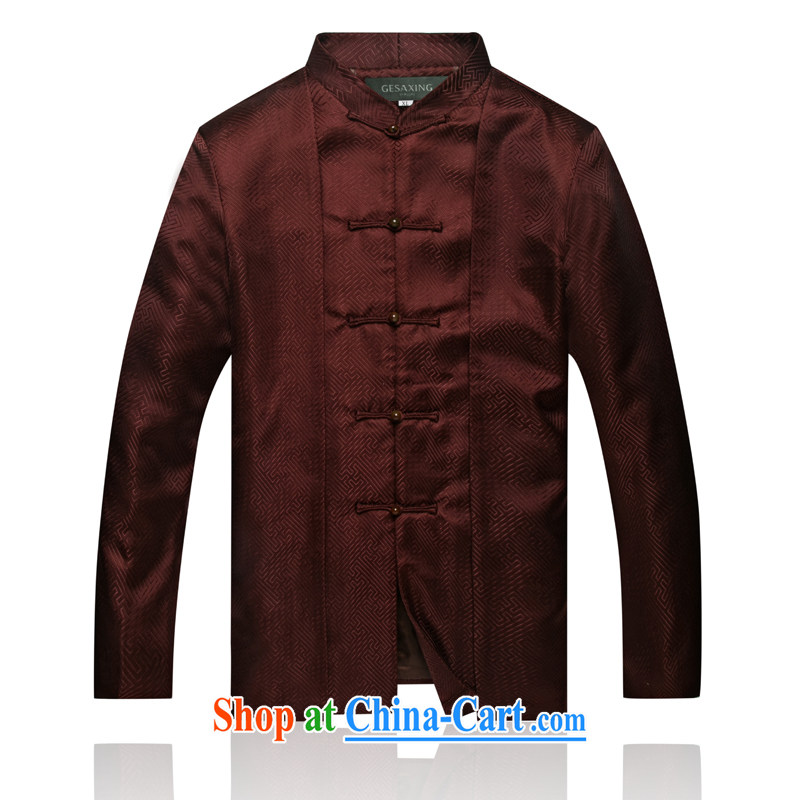 7711 China wind autumn and winter new male APEC New Clothing men's jackets and China, for Han-chinese aubergine XXL/185