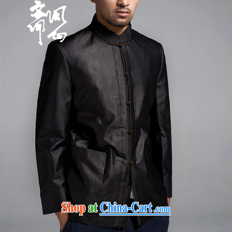 q heart Id al-Fitr (the autumn as soon as possible new products men's fragrance cloud yarn Chinese jacket, for autumn and winter, Zen jacket 1224 black XXL 50 yards, ask a vegetarian, shopping on the Internet
