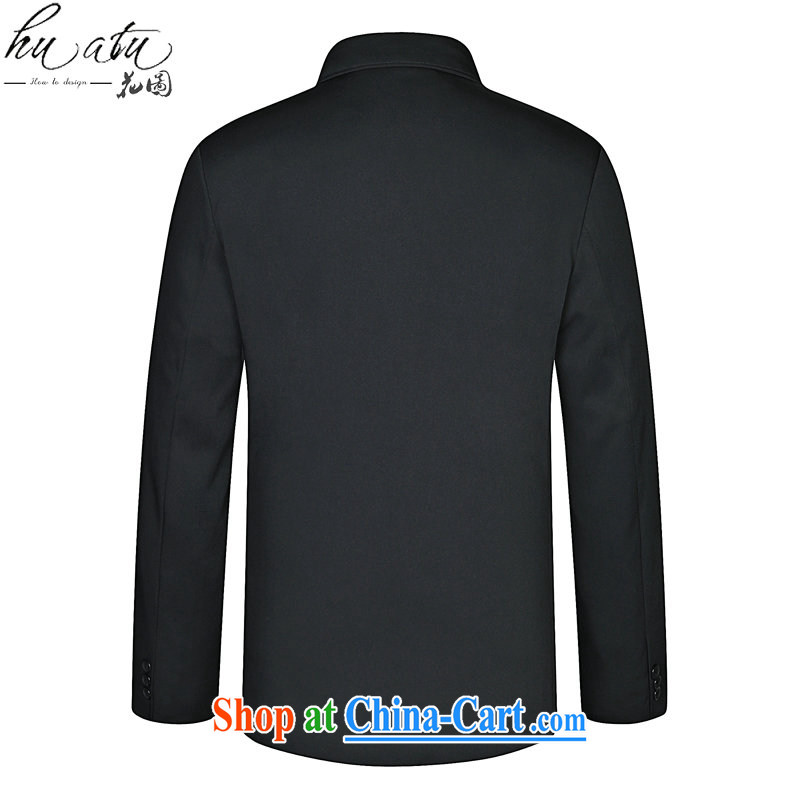 Take the older men and the Spring and Autumn and new roll collar smock father with traditional retro hair smock so T-shirt jacket deep blue 185, figure, and shopping on the Internet