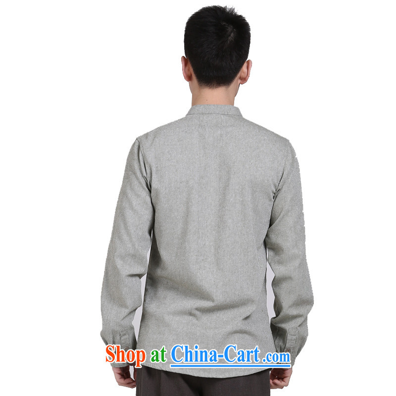 China wind cotton Ma APEC male middle-aged men's shirts Long-Sleeve cultivating leisure shirt jacket green XXL, at the foot of the mountains, sports, and shopping on the Internet