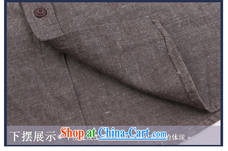 China wind cultivating Chinese business APEC men's long-sleeved men's shirts linen original casual middle-aged men's shirts red and brown XXXL pictures, price, brand platters! Elections are good character, the national distribution, so why buy now enjoy more preferential! Health
