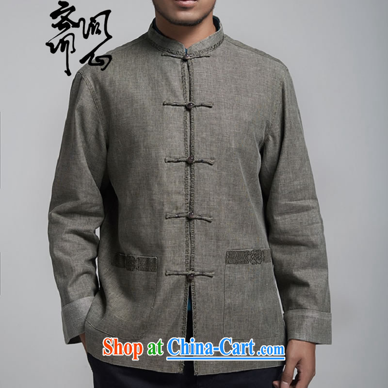 Asked about Ramadan and the rewards as soon as possible and fall/winter men's new long-sleeved Choo, T-shirt Chinese Embroidery jacket WXZ 1130 light gray XXL, ask a vegetarian, and, shopping on the Internet