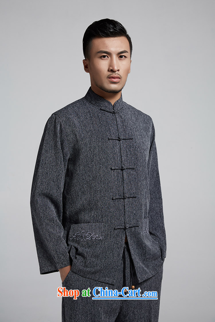 Ask a vegetarian (the health of spring loaded new men's thin Chinese jacket improved Chinese T-shirt WXZ 1783 dark gray XXXL pictures, price, brand platters! Elections are good character, the national distribution, so why buy now enjoy more preferential! Health