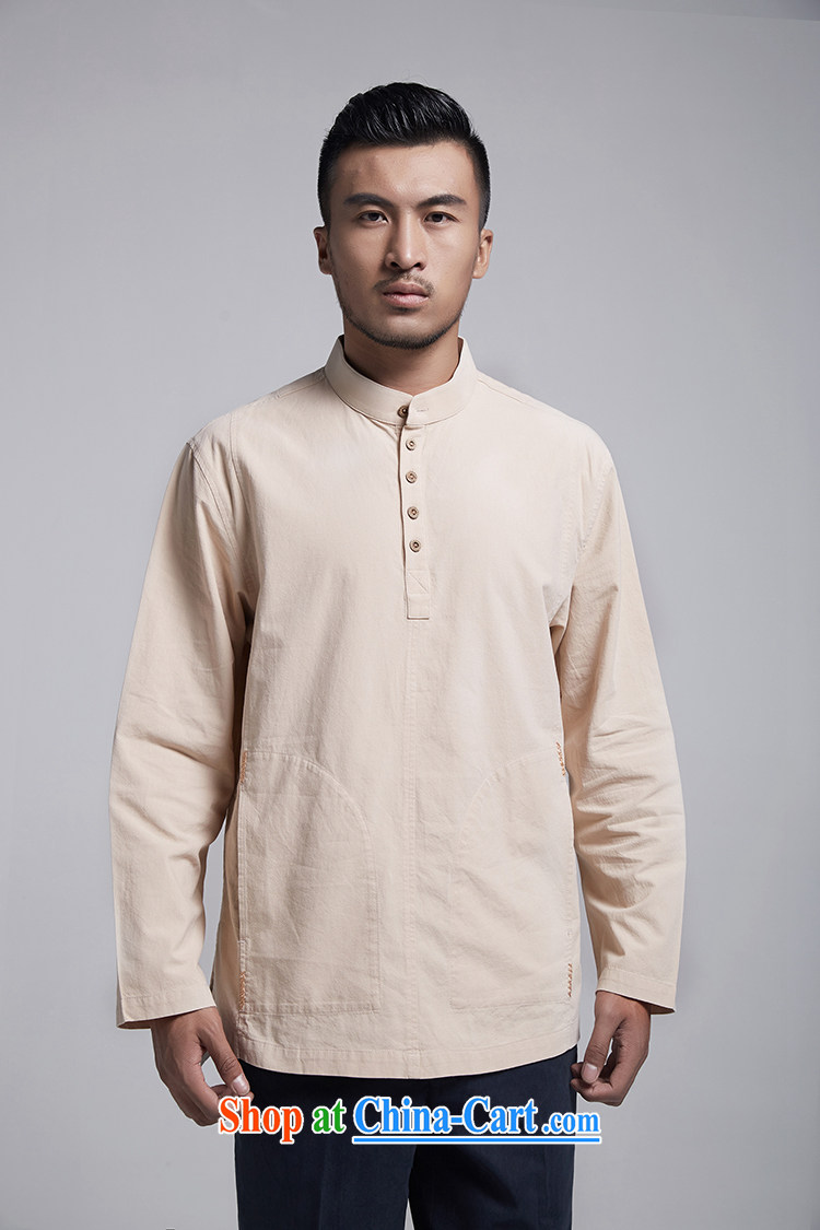 Ask a vegetarian (the Health spring men's new men's muslin shirt stylish improved Tang replace WXZ 1786 light yellow XXXL 52, pictures, price, brand platters! Elections are good character, the national distribution, so why buy now enjoy more preferential! Health
