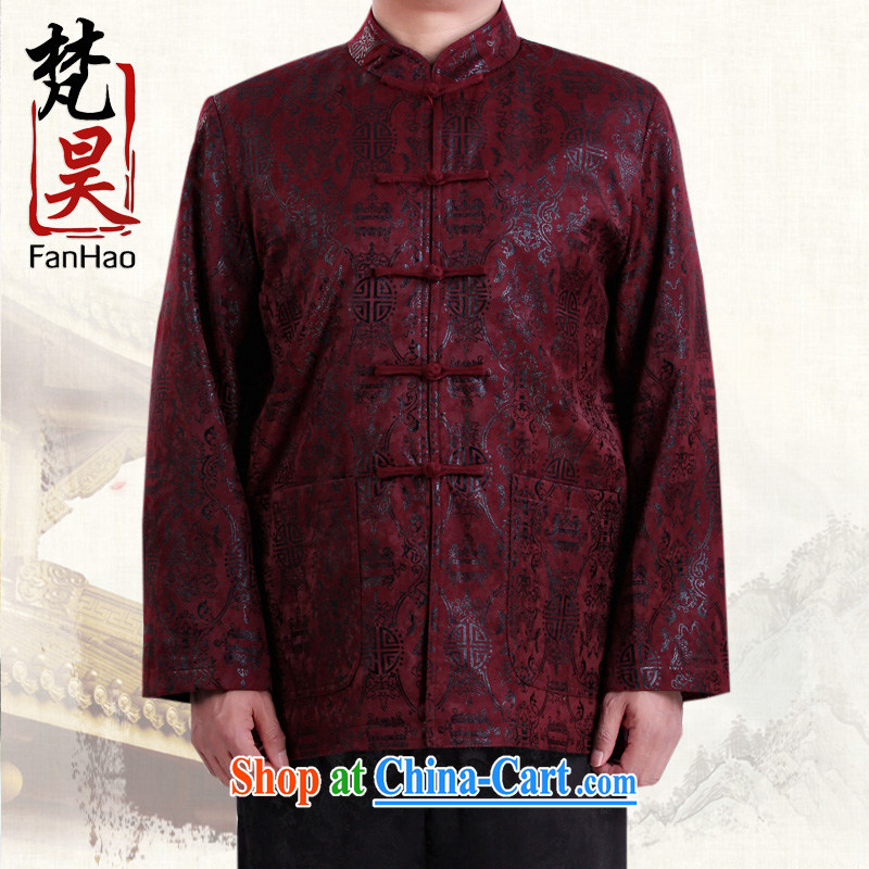 Van Gogh's New Man Tang jackets fall and winter Ethnic Wind long-sleeved jacket with his father, who H smock 1506 red XXXXL, Van Gogh's annual, and shopping on the Internet