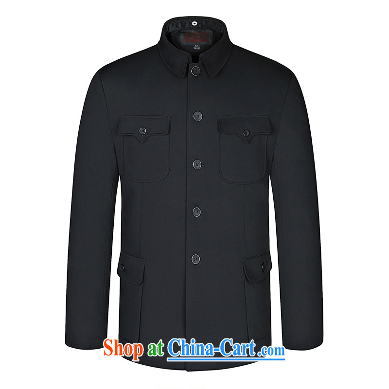 Kim Ho-The 2015 Spring and Autumn and new, middle-aged and older men's men and smock for my father with middle-aged with leisure Sun Yat-sen suit gray 185