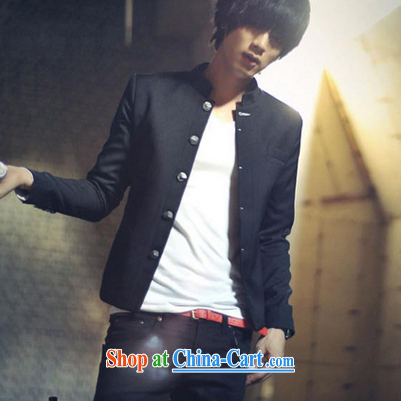 A Chinese Generalissimo male Korean Sun Yat-sen suit blood College male black XXL