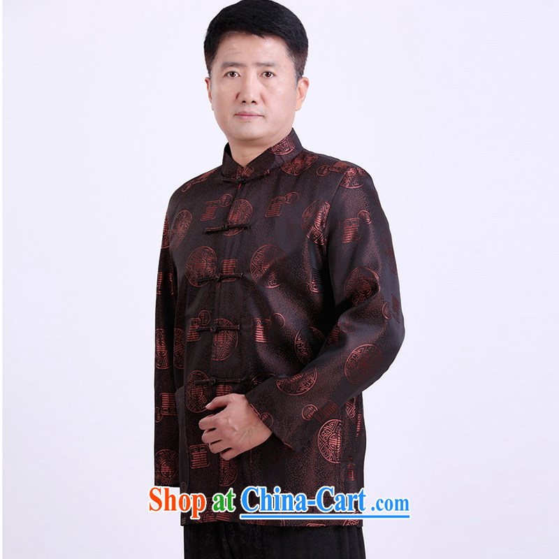 Property is property, Chinese men and the code in the thick winter spring birthday clothing brown 4 XL