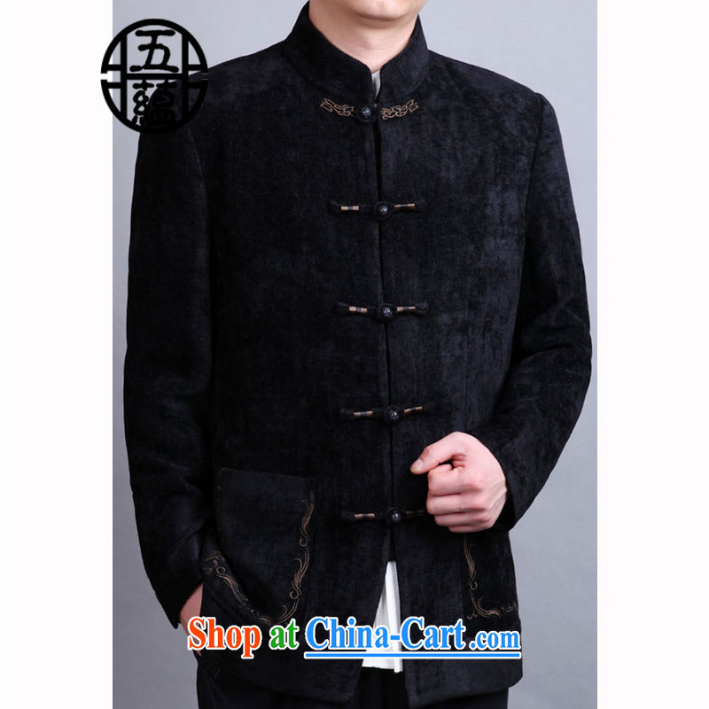 The Cho-down Azouari winter Chinese men's jackets and Western combined edition men's upscale Tang black manual, 54