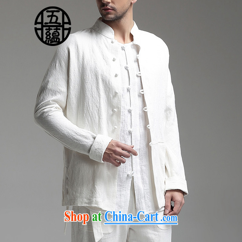 The TSU defense _Azouari_ China wind men's linen Chinese, for long-sleeved T-shirt jacket white XXXXL is a custom does not return does not switch