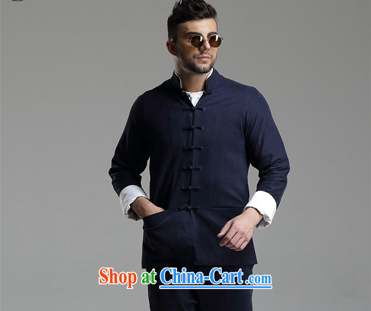The TSU defense (Azouari) China wind men's leisure, for Tang jacket dark gray XXL pictures, price, brand platters! Elections are good character, the national distribution, so why buy now enjoy more preferential! Health