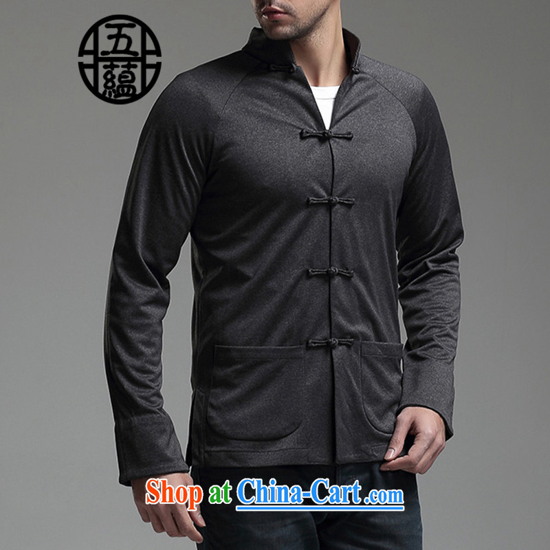 The TSU defense (Azouari) China wind men's beauty cowboy Tang with long-sleeved casual jacket black XXL