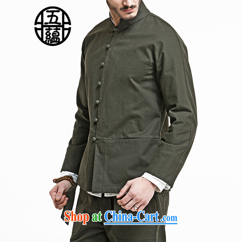 The TSU defense _Azouari_ China wind men's Sau San Tong load can be lifted off the leader is pure cotton jacket army green XXL