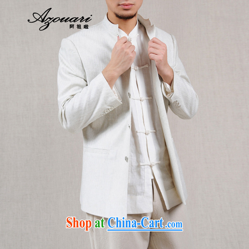 The TSU defense _Azouari_ original antique improved Chinese cotton Ma men's jackets spring men's T-shirt white XXL 185 _ 100