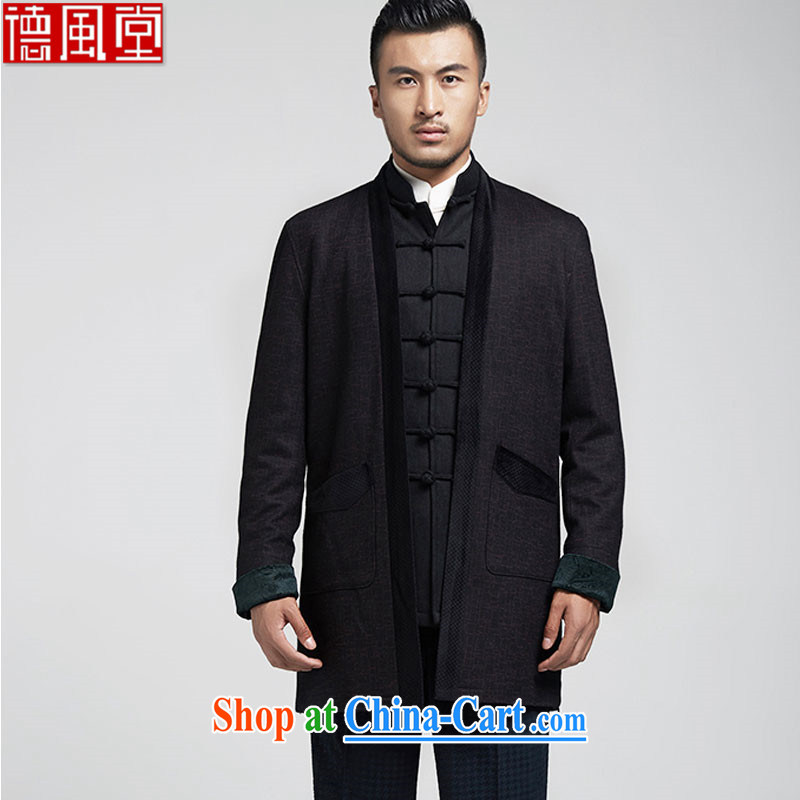De-tong South Pavilion Chinese hair? men's Chinese Dress Chinese wind Yi minimalist atmosphere surrounded the original Chinese wind men's 2015 spring black XL
