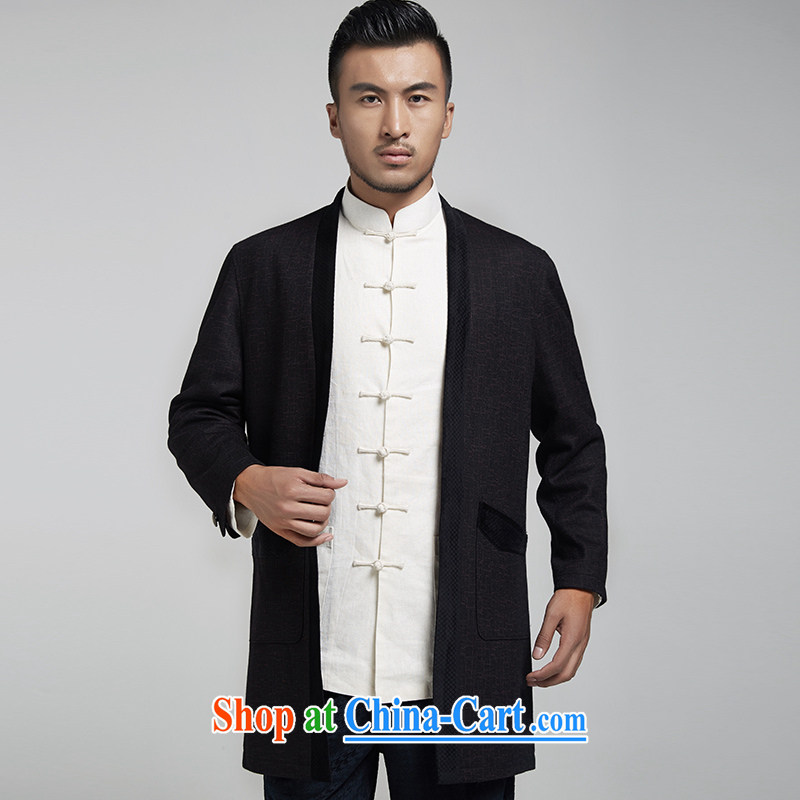 De-tong South Pavilion Chinese hair? men's Chinese Dress Chinese wind Yi minimalist atmosphere surrounded the original Chinese wind men's 2015 spring black XL, de-tong, shopping on the Internet