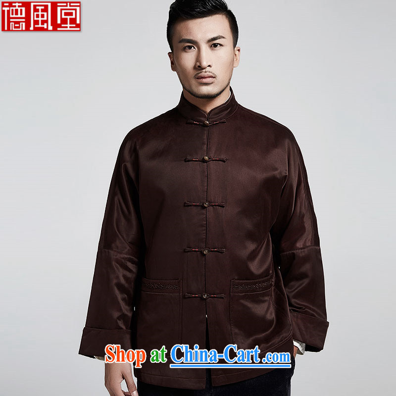 De wind the in your older upscale Chinese men's jacket 2015 autumn and winter, Chinese two cuff casual parka brigades