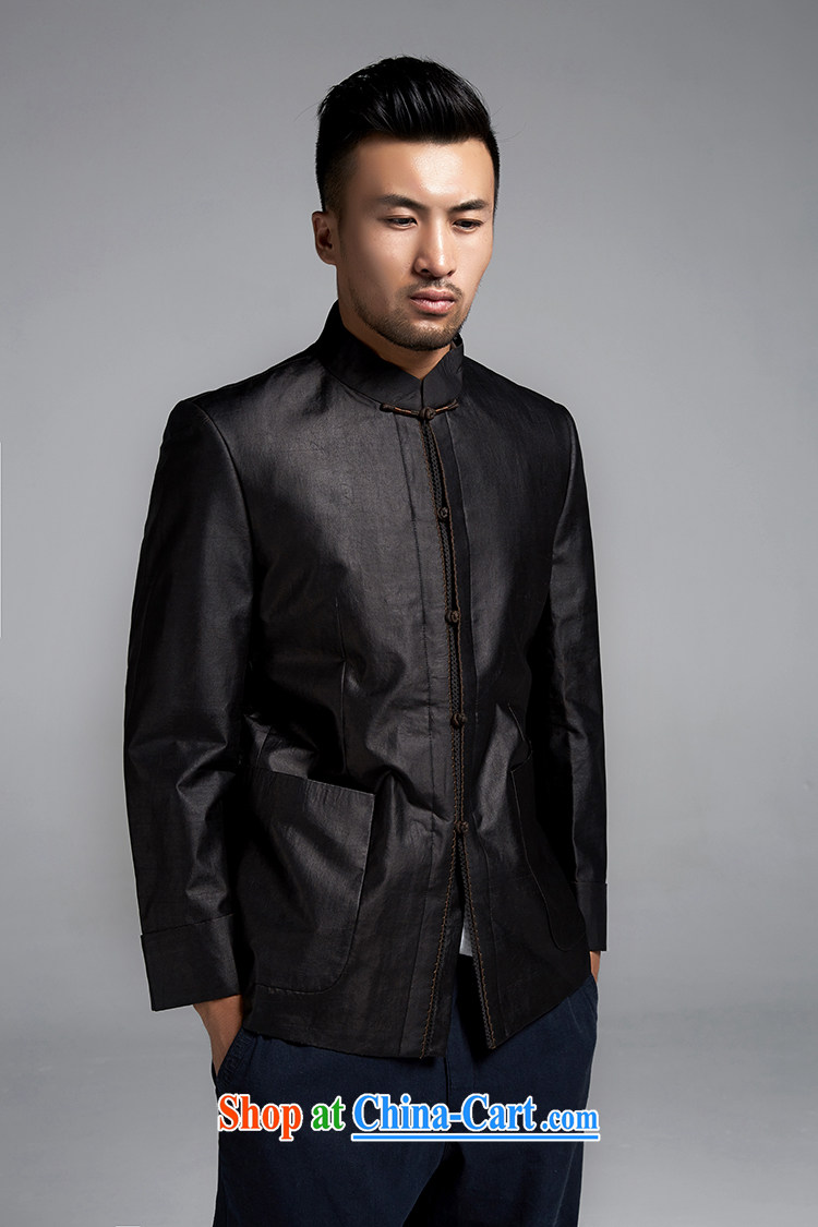De wind church blessed Chinese men and cultivating Chinese jacket Hong Kong cloud yarn anti-wrinkle improvement China wind men's 2015 spring black XXXL pictures, price, brand platters! Elections are good character, the national distribution, so why buy now enjoy more preferential! Health