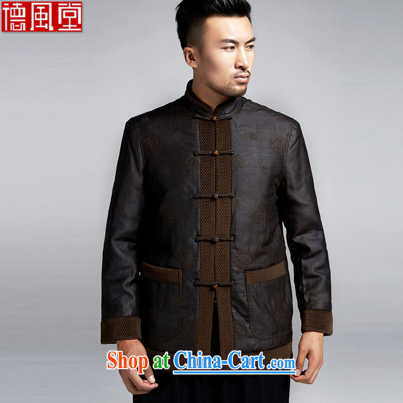 De-tong day drunk upscale male Chinese long-sleeved 2015 autumn and winter coats China wind older silk parka brigades