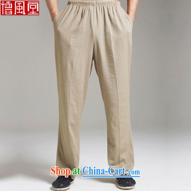 De wind church universal suffrage wind units in the older short pants men's 2015 summer thin elasticated waist XL Chinese style green beans 4 XL