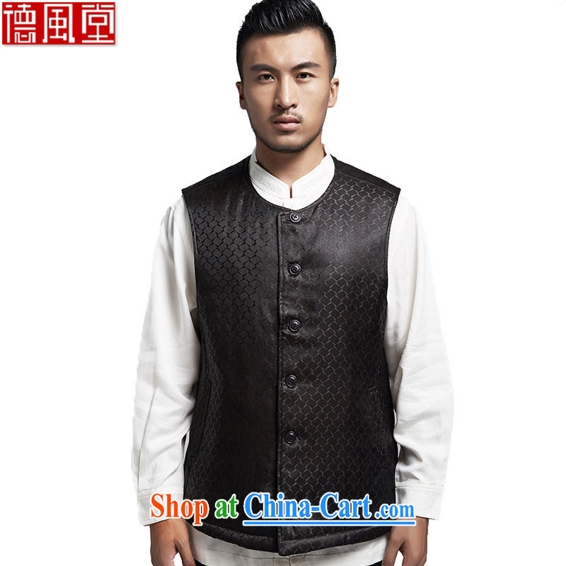 De-tong the Hong Kong Standard cloud yarn Tang is a Chinese, shoulder silk, a Chinese wind male black XXXL