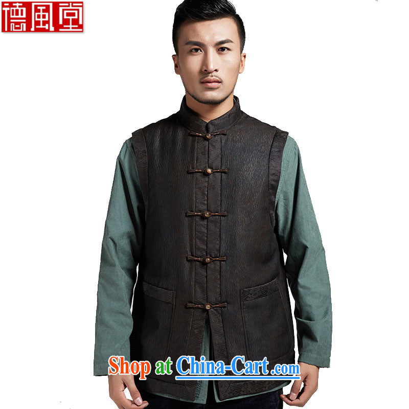 De-tong in Dili-YIN HONG KONG cloud yarn upscale male Tang with improved cultivation, a lounge, shoulder wind warm Chinese Wind and coffee-colored XXXL