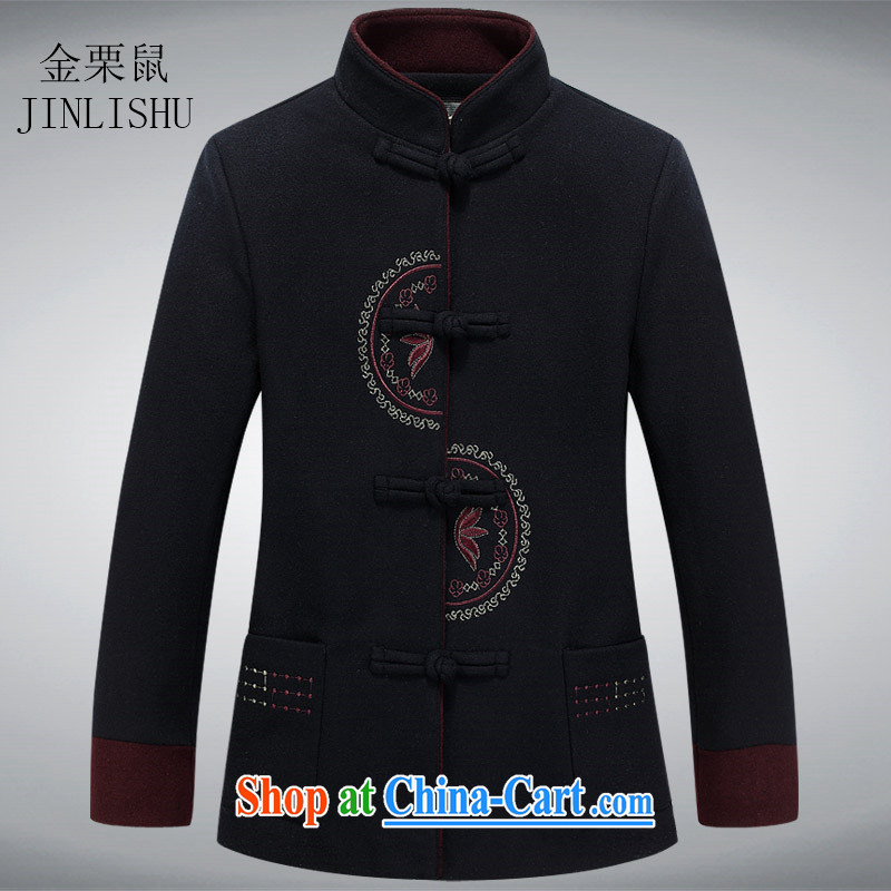 The poppy the mouse in 2015 older women Tang put older people do gross coat older persons T-shirt jacket Tang black 190